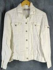 Chicos 2 Medium 100% Linen White Jacket Chico's