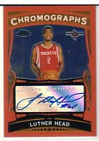 2005-06 Topps Chrome Autographs #LH Luther Head Auto #/208