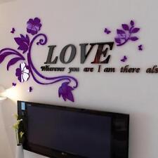 Love Home Stickers Waterproof Posters Purple Wall Sticker Muraux Home Decor