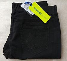 Versace skinny women's black embelished pocket Jeans size W27 x L29