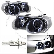 Black Housing Projector Halo Headlight Lamps for Acura Integra 1998-2001