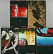 5 U2 Cassette Singles One The Fly Mysterious Ways Angel of Harlem Wild Horses