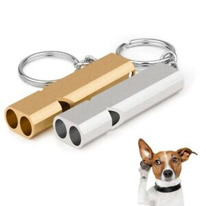 Two-Tone Aluminum Survival Whistle Pet Training Tool for Recall Barking Control
