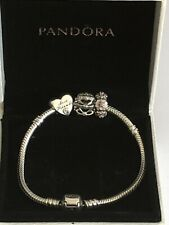 Pandora bracelet with 3 charms, Boxed.❤