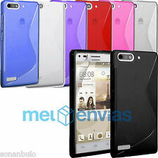 Funda para HUAWEI ASCEND G6 / ORANGE GOVA GEL TPU Diseño S-LINE Colores Varios