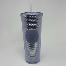 Starbucks Studded Silver Iridescent Tumbler Venti 24 oz NEW Cold Cup Straw