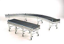 Flexible Extending Gravity Roller Conveyor, 3M long 400mm wide PVC Rollers