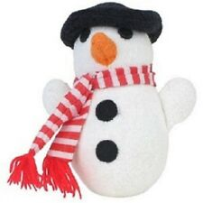 """Dog Toy Snowman for Puppy or Small Breeds with Squeaker by Multi Pet  3"""" Buddies"""