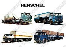 Henschel Nutzfahrzeug LKW Tanklastwagen Beton Zement Poster Plakat Bild Schild