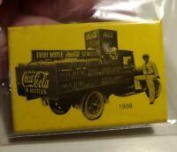 Vintage Collectible 1938 Coca Cola Soda Advertising 2X 3 Inch Pocket Mirror Used