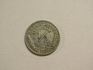 Syria 1936 1/2 Piastre Coin