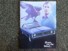 1972 FORD FALCON XA BROCHURE.COVERS ALL MODELS INCL GS,GT, ETC. 100% GUARANTEE