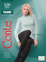 Conte TIGHTS Triumf 220 Den | Warm Winter Thick Comfortable Footed Pantyhose