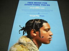 Asap Rocky Free Music For Everything You Do. 2015 Promo Poster Ad