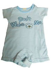 BHS Cotton Dont Wake Me baby sleep suit 3-6 Months
