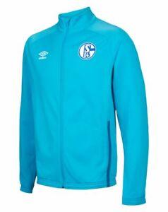 Umbro Football Soccer S04 FC Schalke 04 Mens Full Zip Jacket Tracksuit Top