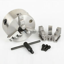 All Industrial 47760 4 3 Jaw Self Centering Lathe Chuck Plain Back Hardened