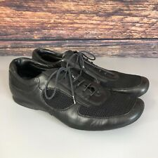 Genuine PRADA Men's Black Leather Lace Up Casual Shoes Size US 8 UK 7 EU 41