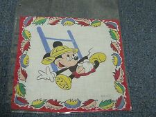 1940's Mickey Mouse Football Blanket Cloth Patch Handkerchief