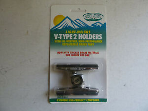 Kool Stop V Type 2 holder, threaded, carbon compound, silver