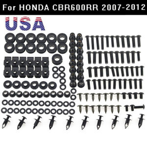 2007 2008 2009 2010 2011 2012 CBR 600RR Silver Fairing Bolts Fasteners Screws Kit Set Made In USA