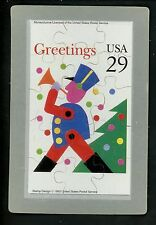 Novelty stamp PUZZLE postcard Scott #2794 Christmas Toy Soldier Holidays 1993
