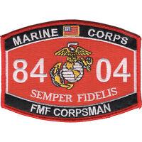 "Navy Fleet Marine Force Corpsman 8404 Patch 4 1/2"" x 3 1/4"" Licensed"