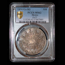 PCGS Ms 62 1894-Go Rs Mexico 8 Reales Tons