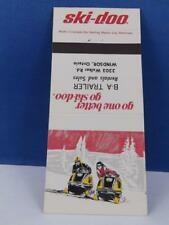 SKI-DOO SKI DOO SNOWMOBILE DEALER B A TRAILER SALES WINDSOR MATCHBOOK VINTAGE