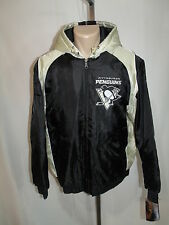PITTSBURGH PENGUINS MEN'S XL XLARGE FULL ZIPPER JACKET NHL BLACK EMBROIDERED NWT