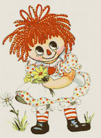 Vintage Retro Raggedy Ann Handmade DIGITAL Counted Cross-Stitch Pattern Chart
