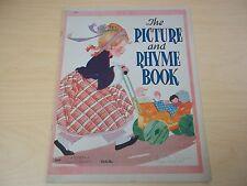 Vintage 1941 Fern Bisel Peat - Saalfield - The Picture + Rhyme Book - Excellent