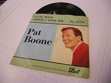Pat Boone Sugar Moon/Cherie I Love You 45 RPM DOT Records EX