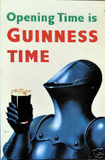VINTAGE STYLE RETRO METAL PLAQUE Opening Time is GUINNESS TIME Ad/Sign