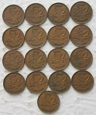 Canada 1937-1952 Small Cent Date Set, 17 Coins In Total, KGVI Dates