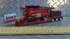 1/64 ERTL farm toy custom case ih 175th anniv combine loaded dcp lowboy trailer