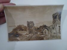 Vintage Real Photo Postcard HASTINGS CASTLE Franked+Stamped Dated 1922   §A841