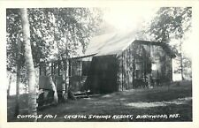 A View Of Cottage No 1, Crystal Springs Resort, Birchwood, Wisconsin WI RPPC
