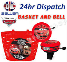 Disney CARS Boy's Kids  Bike Cycle Shopping Front BASKET and BELL Ring Alarm