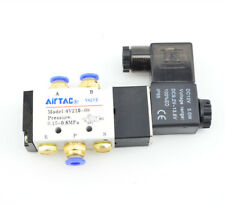 Solenoid Air Valve  5 Way 2 Position DC12V  w Brass Silencer Fittings