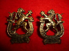 The Veteran's Guard of Canada Collar Badge Pair, WW2 Canadian, Mazeas S21