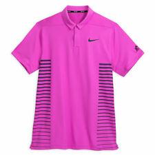 NEW Disney Parks Nike Golf Dri-Fit Men's Pink Mickey Performance Polo Medium