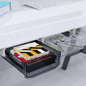 Under Desk Drawer, L Size Self Stick Office Organizer Storage Drawer Pencil Tray