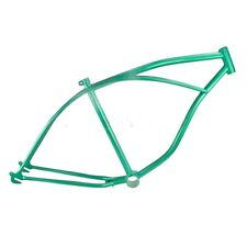 "26"" BEACH CRUISER FRAME GREEN LOWRIDER CHOPPER CYCLING TRIKE BIKES NEW!"
