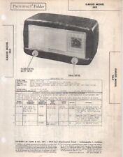 1948 GAROD 5A3 RADIO SERVICE MANUAL PHOTOFACT SCHEMATIC DIAGRAM REPAIR FIX
