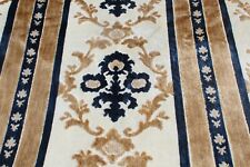 New ListingVintage Medallion Floral Striped Cut Velvet Brocade Upholstery Fabric by Yard