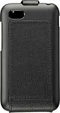 NIB OEM BlackBerry Q5 Hand-Crafted Leather Flip Shell Case Cover ACC-54689-101