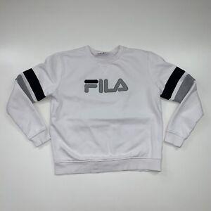 Women's Fila Crewneck Sweatshirt Size Large White