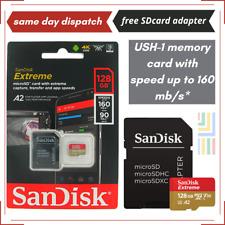 SanDisk 128GB Extrême Micro SD Carte Mémoire V30 A2 Classe 10 4K Pour sony A6100
