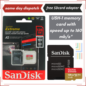 SanDisk 128GB Extreme Micro SD Card V30 A2 Class 10 4K for Samsung Galaxy A21s